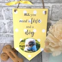 Hanging Personalised Pet Photo Plaque